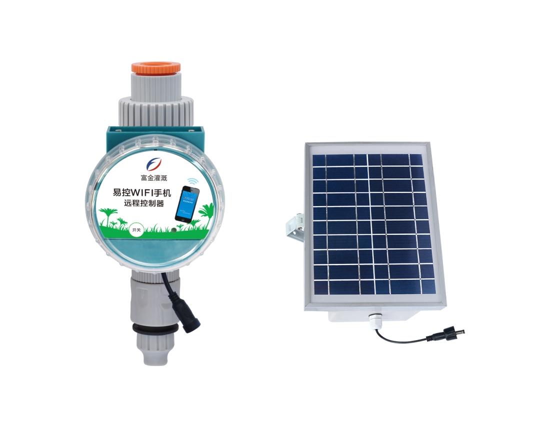 易控WIFI手机远程雨量控制器(太阳能板)-普通款