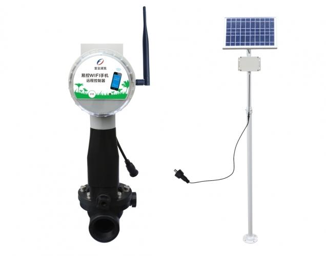 易控WIFI手机远程雨量电磁阀控制器(太阳能板)