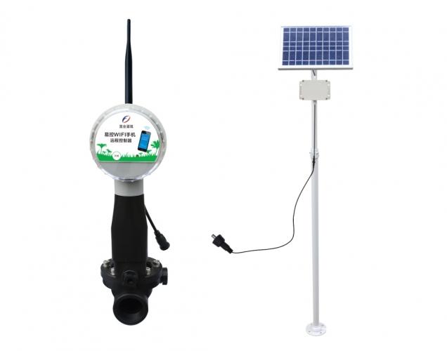 易控WIFI手机远程电磁阀控制器(太阳能板)
