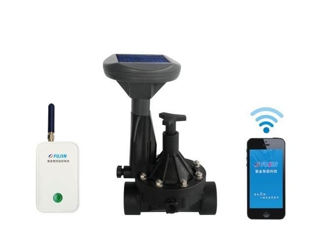 单路网关-WiFi手机远程电磁阀控制器-新款(太阳能板)