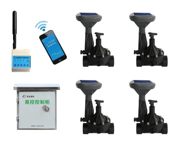 太阳能手机远程电磁阀控制器-新款(4路)